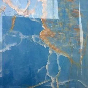 Wall Decorating Backlit Luxury Sky Blue Onyx Stone Slabs