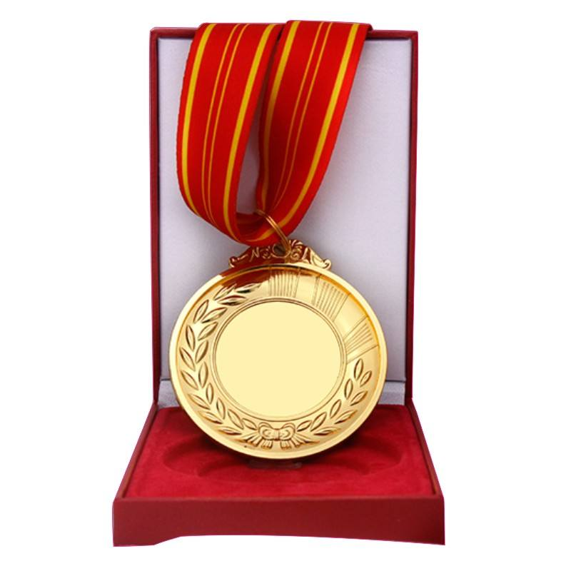 Ads Personalised Engraved Custom Gold Plated Metal Unique Laser Name Blank Medal