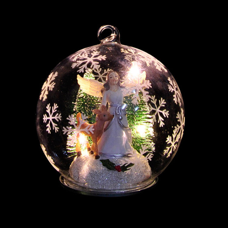Personalised hand made decorative chinese art craft 12cm glass christmas balls