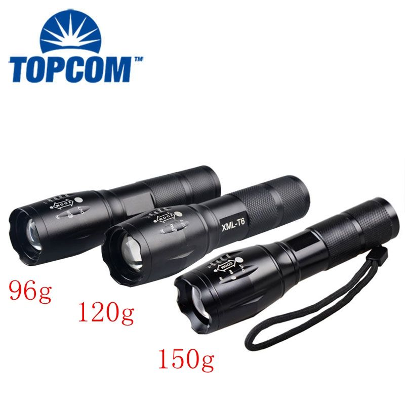 Siêu Sáng 1500Lumen 3 * AAA / 1*18650 Led Torch,High Power Led Torch Ánh Sáng, XML-T6 Led Torch Đèn Pin