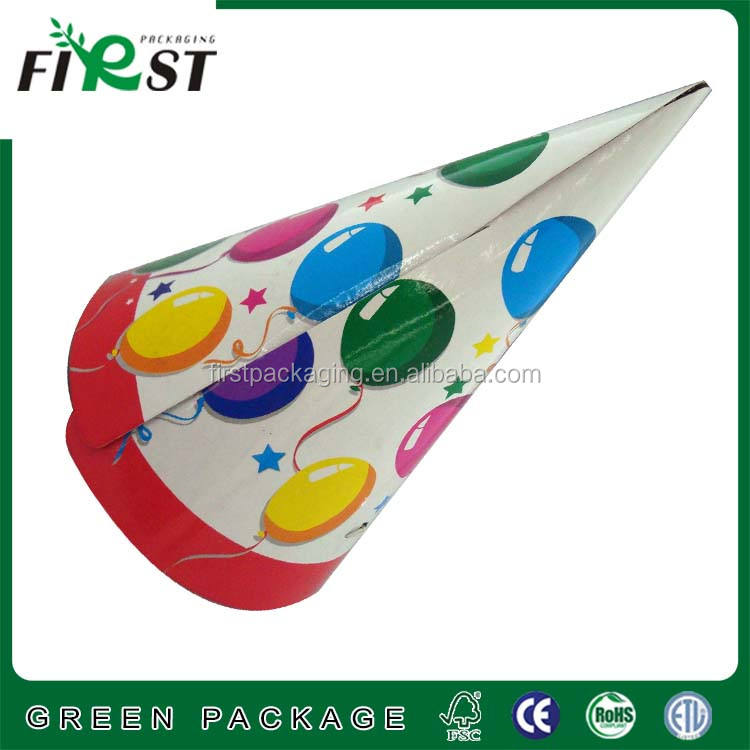 [Custom manufacturer]Paper Cone Hat for Party Event/Promotional Birthday Paper Party Hat