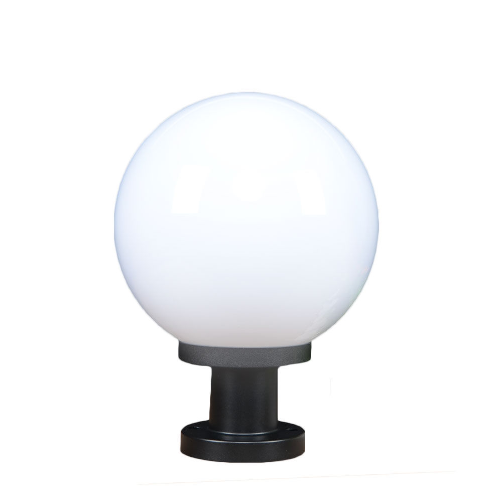 Factory price 250mm plastic outdoor light globe gate light outdoor pillar light