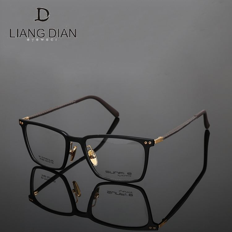 2018 classic style optical frame new material, carbon fiber black square optical eyeglasses