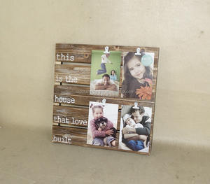 New Design Wood 4 Clip opening Collage photo frame,4x6''