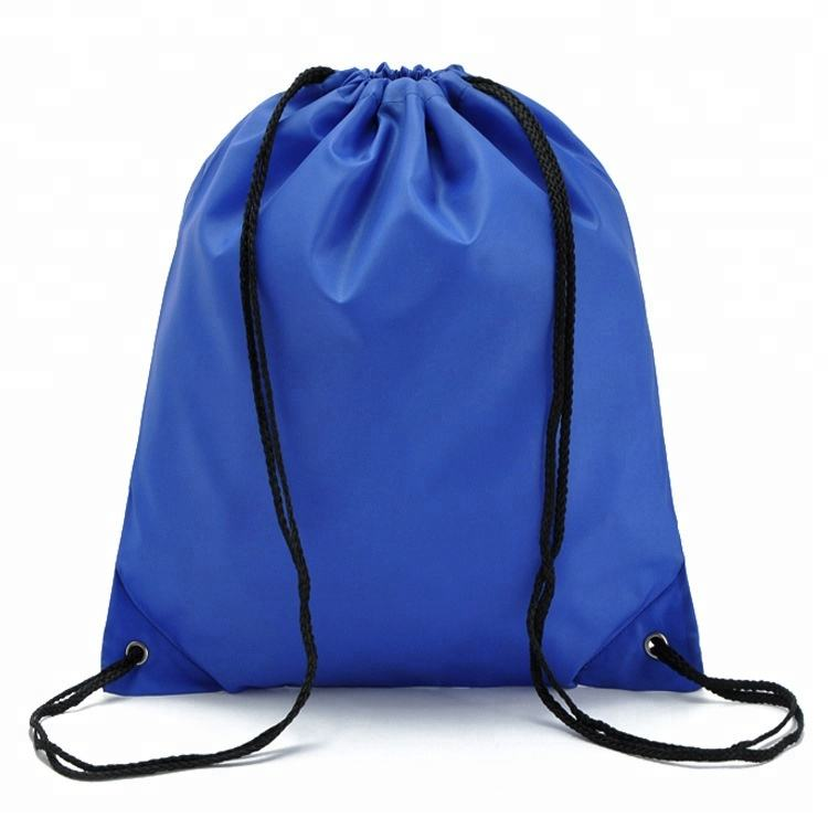 wholesale low price fashion polyester drawstring sports backpack 210D polyester drawstring bag