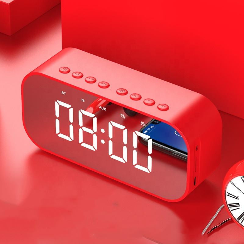 New Colorful Alarm Clock LED Speaker with Touch Control Lamp For Outdoor LCD