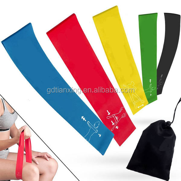Trade Assurance 5 sets loop resistance Bands of 5 levels for Men and Women Home Gyms,Yoga,Pilates,Physical