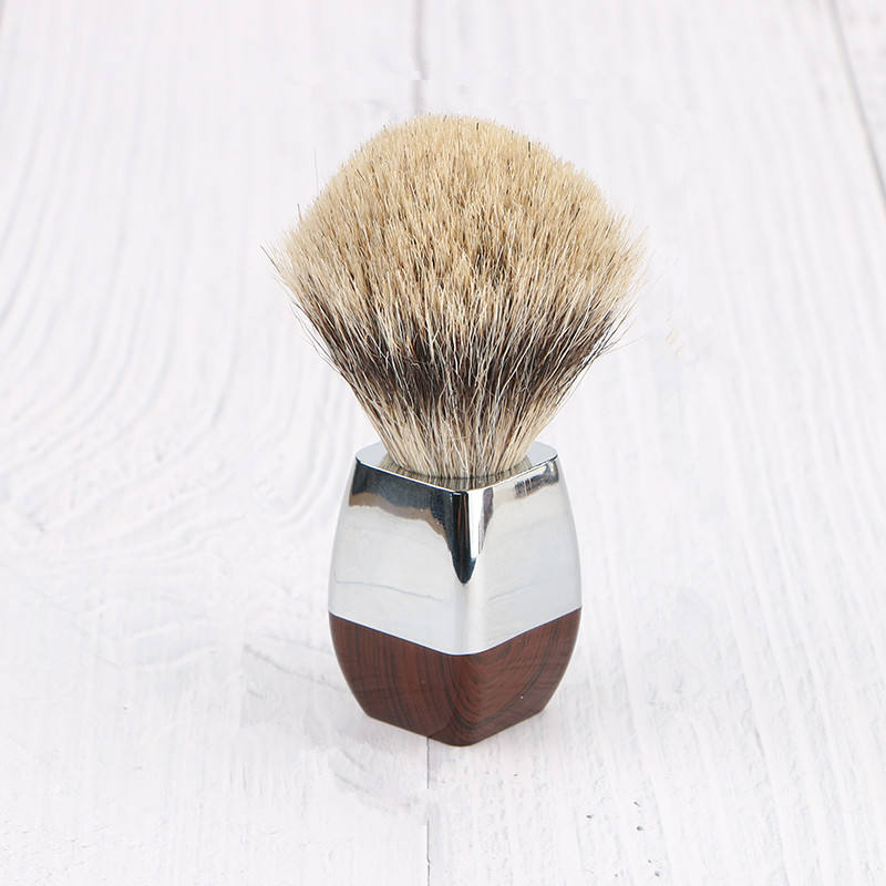 Custom beard brush Alloy handle shaving cream brush best badger hair shaving brush