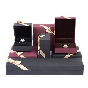 Black Jewelry Box Customer LOGO Bracelet Tie Cardboard Jewelry Box