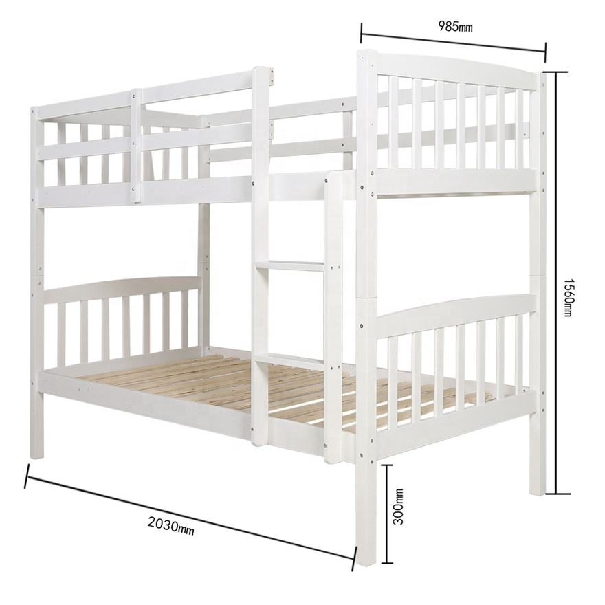 SG-LL01 hot sale modernsolid pine wood separable bunk bed