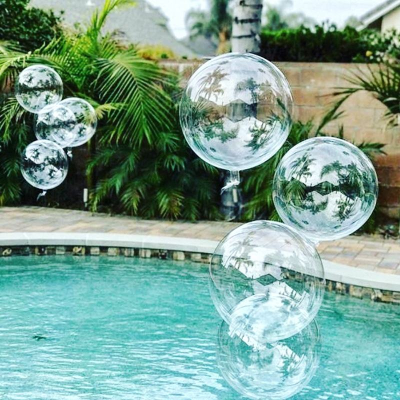 24 Inch Opblaasbare Ronde Transparante Verjaardag Bruiloft Evenement Decoratie Party Bobo Latex Clear Bubble Ballon