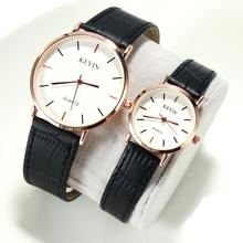 New Design Fashion Colorful Korean Couple Kevin Leather Quartz Watch