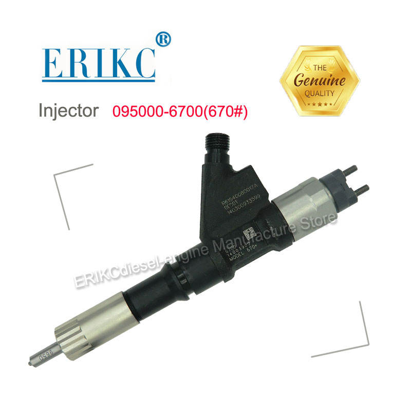 ERIKC 6701 Inyector Fuel R61540080017A Injector 0950006701 Injection Pump 095000-6701 For Denso