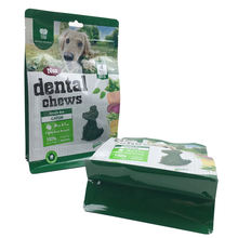 Glossy Printing Pet Food FDA Approved Dog Chew Flat Bottom Box Pouch Pet Treat Food Safe Snack Square Bottom Packaging Bag Pouch