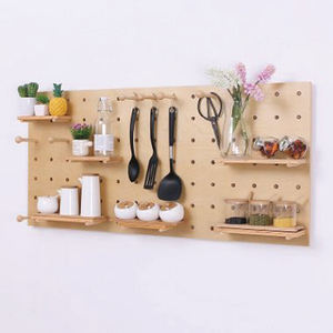 Handmade Personalizado Madeira Wall Mounted Display Peg Board