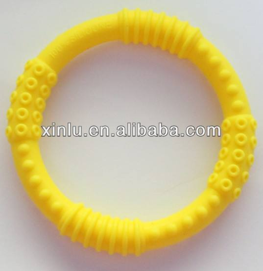 FDA free silicone baby teething ring