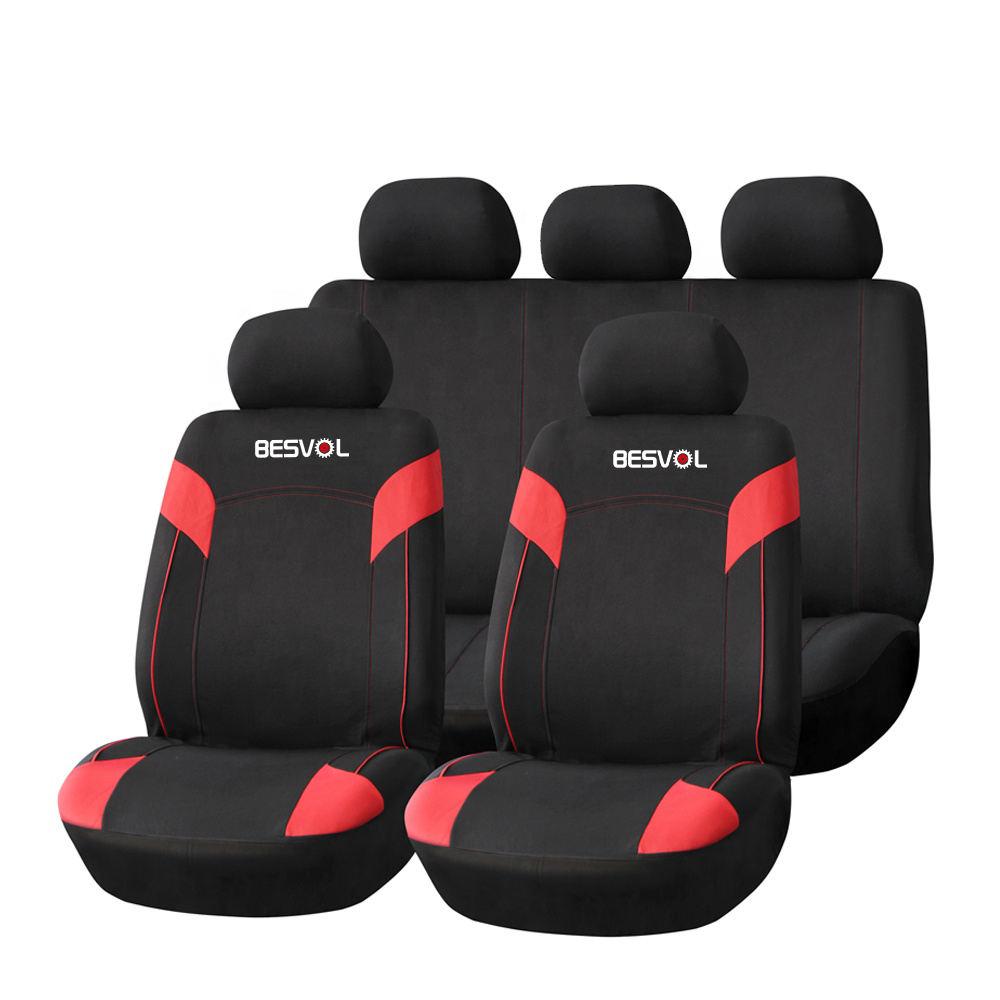 Car seat covers fit Kia Carens full set black//blue leatherette//polyester
