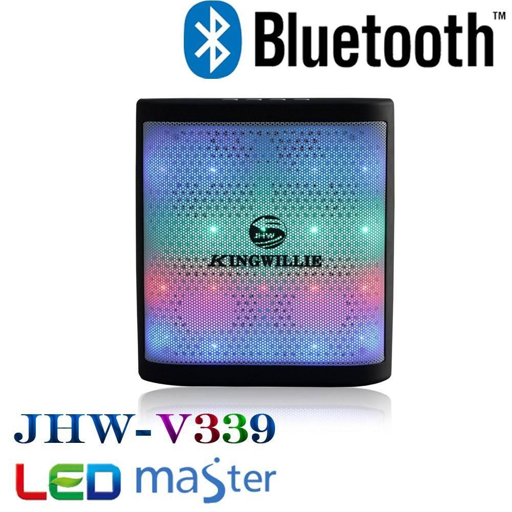 Le bluetooth mini barre de son avec led, Sans fil bluetooth haut - parleur a flashé disco lumière