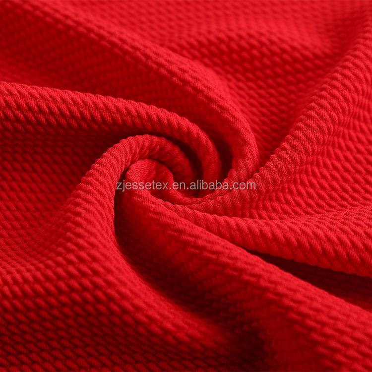 <span class=keywords><strong>Sản</strong></span> <span class=keywords><strong>phẩm</strong></span> mới bán buôn bong bóng màu đỏ crepe knit <span class=keywords><strong>jacquard</strong></span> vải lycra polyester