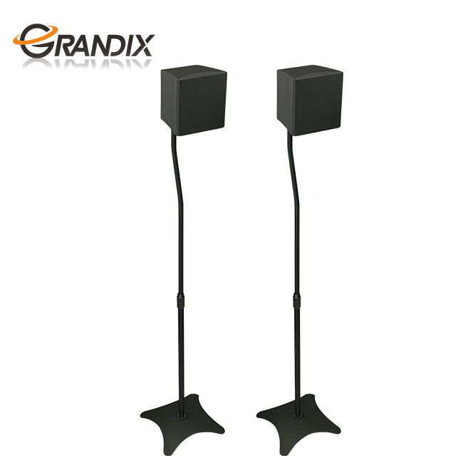 <span class=keywords><strong>Universele</strong></span> Hoogte Verstelbare Home Theater Surround Sound Systeem Satelliet Speaker Stands Mounts Dj Pa Speaker Box Stand