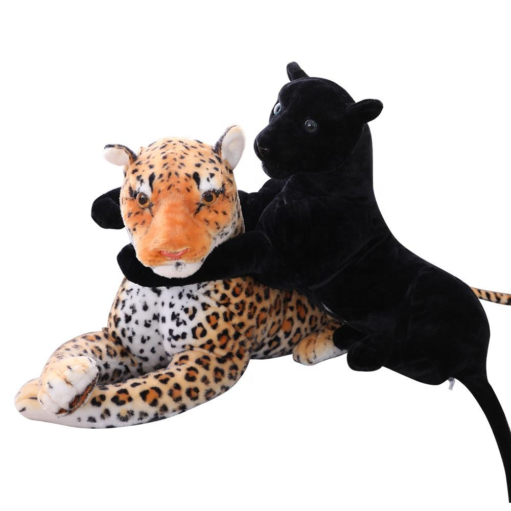 OEM giant plush standing brown leopard realistic plush brown leopard ride on toy life size standing brown leopard plush toy