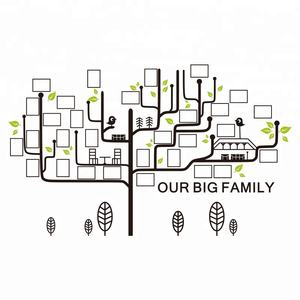 New design large family tree art Photo frame decor 3D acrylic wall stickers