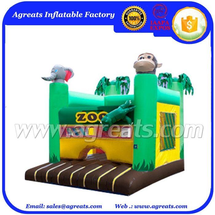 2016 Đáng Yêu inflatable animal zoo trò chơi lâu đài bouncy fpvc inflatable <span class=keywords><strong>thư</strong></span> <span class=keywords><strong>bị</strong></span> <span class=keywords><strong>trả</strong></span> <span class=keywords><strong>lại</strong></span> hoặc trẻ với giá rẻ hơn G1170