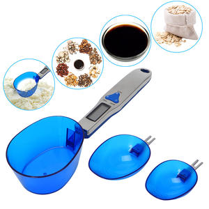 Digital Spoon Scale Kitchen Seasoning Electronic Scoop Scales with 3 Spoon Heads Battery herb Weight Measure Scale