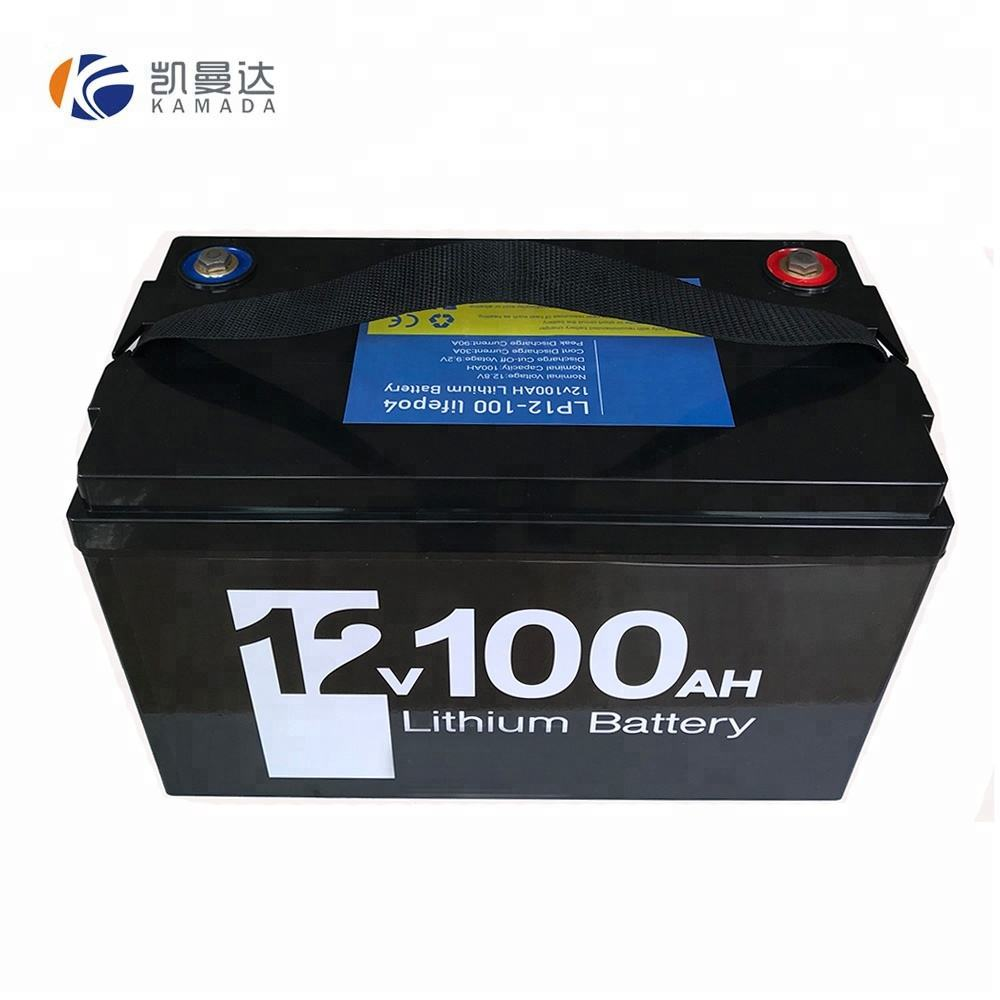 Batterie LiFePO4 12v 24v 36v 48v 20ah 40ah 50ah 60ah 100ah batterie lithium-ion à cycle profond