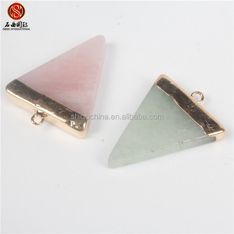 cheap wholesale indian rose quartz pendant
