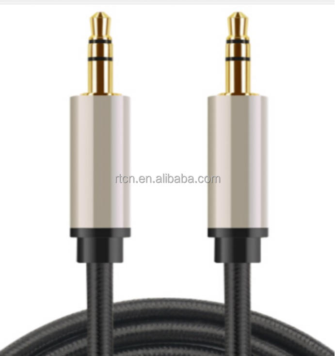 factory supply 3.5mm Stereo plug 3.5 mm Audio Jack Aux Cable braided M-F M-M for PC iPod iphone smartphones MP3 CAR