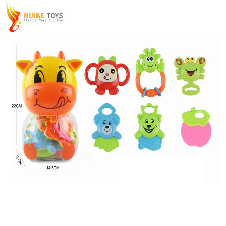 Wholesale Baby Shaking Bell Rattle Toys Teether Play Set