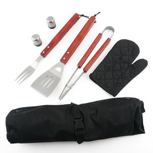 Wholesale BBQ Tool Apron Barbecue Apron Barbeque Grill Tool Set