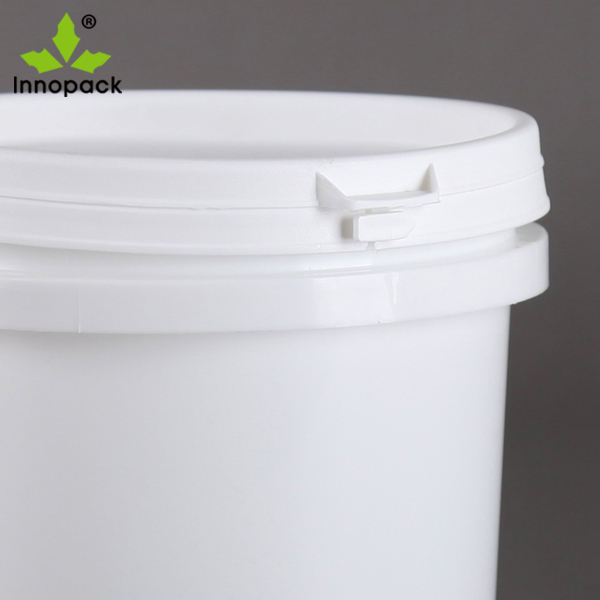 Cheap round 5L transparent plastic bucket with lids and handle