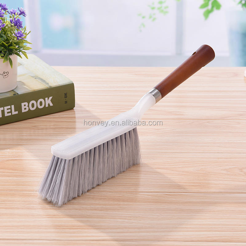 Wood Handle Hotel Family Clothes Dust Hair Sofa Bed Sheets Bedspread Carpet Cleaning Natural Bristle Brush Wooden Large