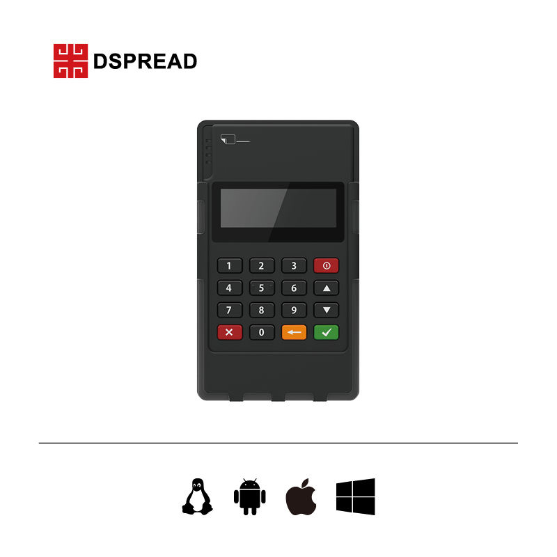 portable QR code POS with chip card reader