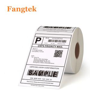 Self adhesive blank shipping direct thermal label roll 4x6 for z ebra barcode label printer