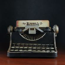 Typewriter Vintage Handmade Metal Crafts Retro Ornaments Decor With Coin Bank For Home Room Office