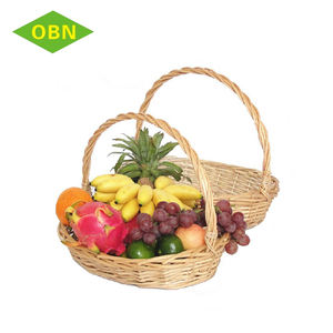Cheap Price Custom Small Hanging Fruit Wicker Basket for Decoration