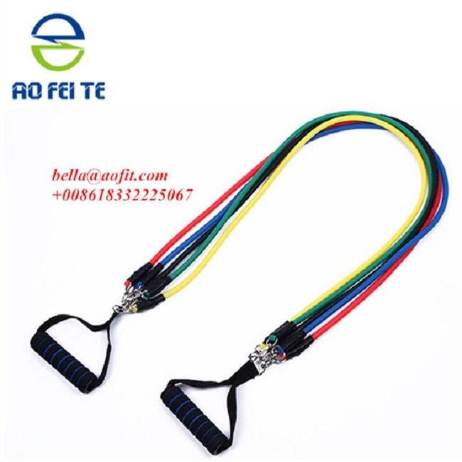 china alibaba live streaming high quality latex silkscreen printing Pilates resistance band