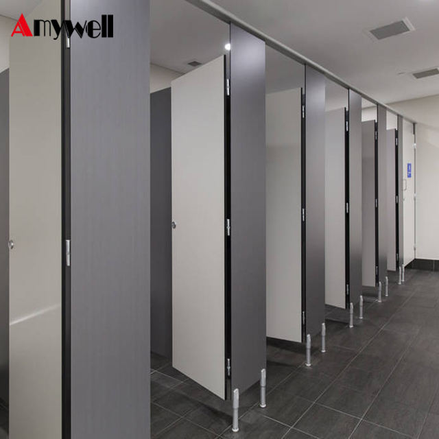 Amywell CE certificates waterproof compact laminate shower cubicle for gym