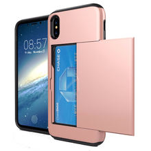 Card Slot Heavy Duty Hard Case For Apple iPhone X Mobile Phone,Hot Sell For iPhone X Mobile Phone Accessories