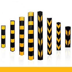 high quality yellow black reflective guard flexible Rubber Corner Guard