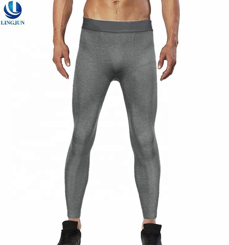 Custom Wholesale Males Running Gym Leggings Mens Compression Fitness Tights Pants Yoga Sport Leggings