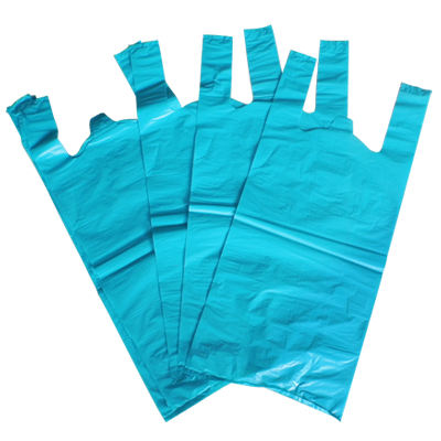 Wholesale factory custom size hdpe biodegradable t-shirt plastic shopping bag