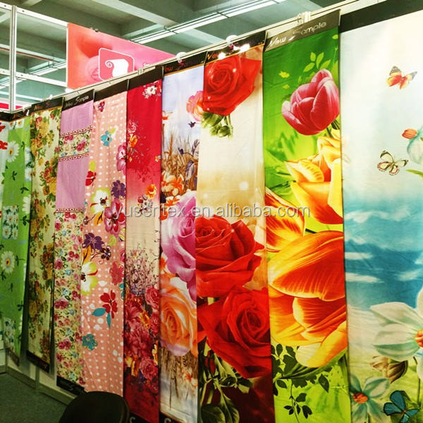 100% polyester micro satin printed fabric for bedding/home textile