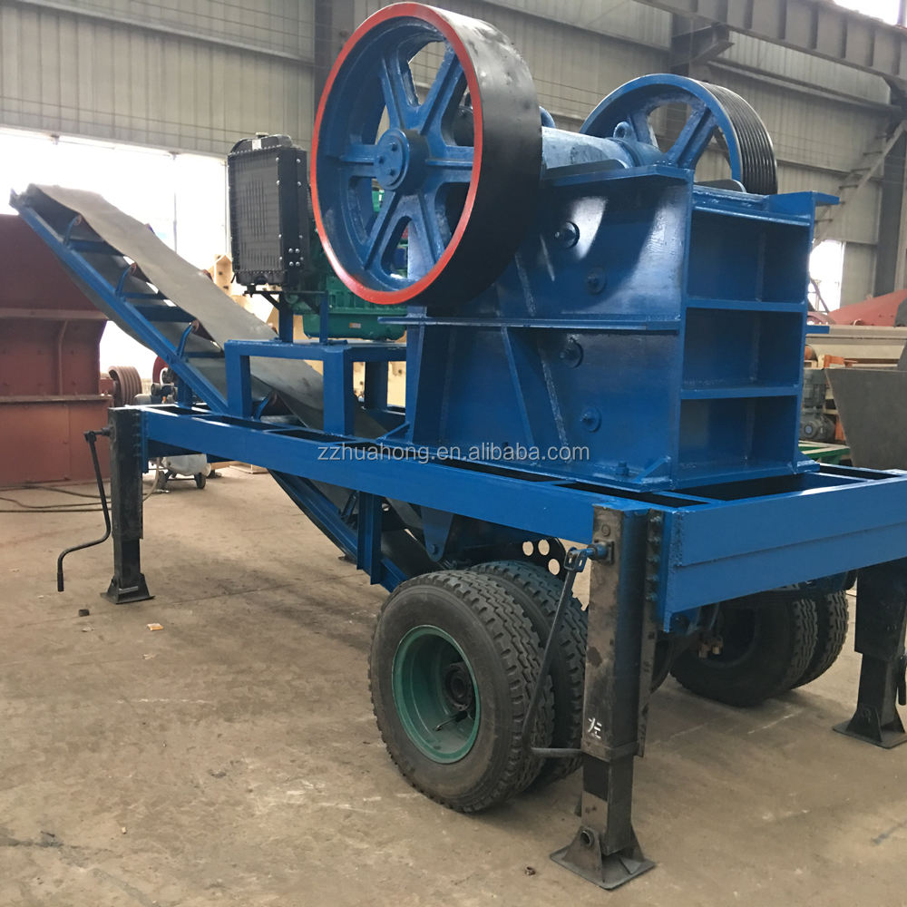 Mobile Jaw Crusher Price /mineral ore breaking machine /portable Diesel Engine jaw Crusher