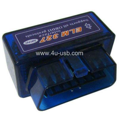 Super Mini ELM327 Interface V1.5 OBD2 II Bluetooth Car Auto Diagnóstico Scanner Para Android teléfono