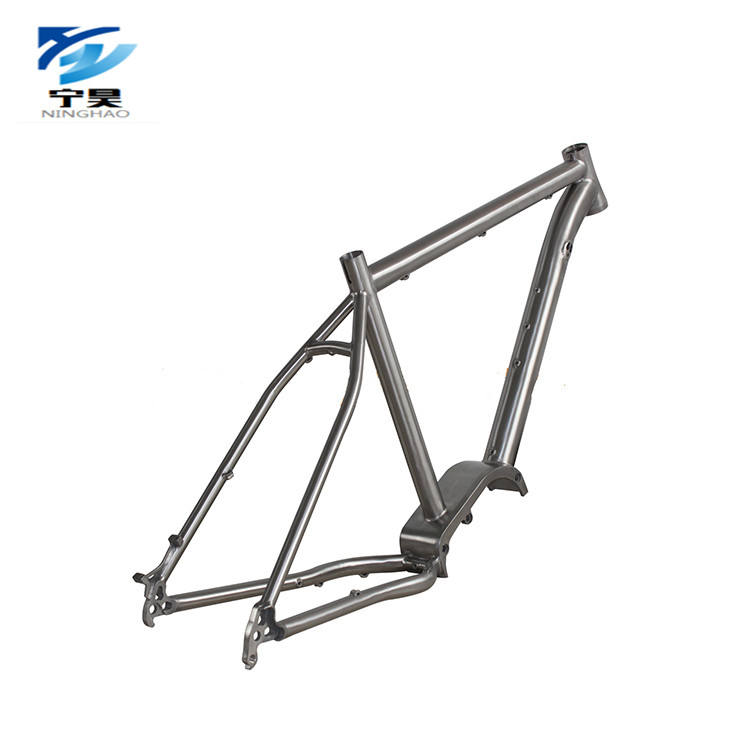 Factory Direct Sale Titanium Frame Electric Bicycle Frame for Ebike G510 bafang Motor