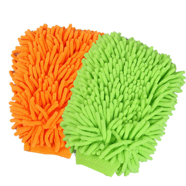 microfiber super mitt cleaning gloves for household car wash
